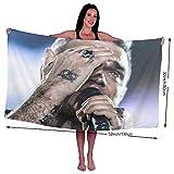 Mhjkloing Robbie Williams Microfibre Extra Large Bain Serviette Hautement Absorbant Texturé à Séchage Rapide Serviette De Plage pour Natation Voyage Sport