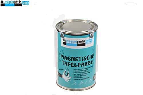 2 in 1 Magnet Tafelfarbe, Magnetische Tafelfarbe, Schultafellack / Magnetfarbe / Tafelfarbe matt, magnetisch, extreme Haftkraft, allergikerfreundliche Wandfarbe für innen, ohne Konservierungsmittel schwarz, 1 Liter