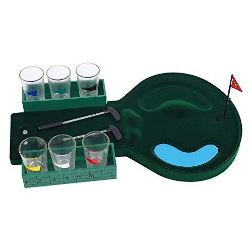 Golf Schnapsglas Trinkspiel Set-Mini Tisch Golf Spiel Unterhaltung Desktop Schnapsglas Trinkspiel Set Ball Spielzeug -