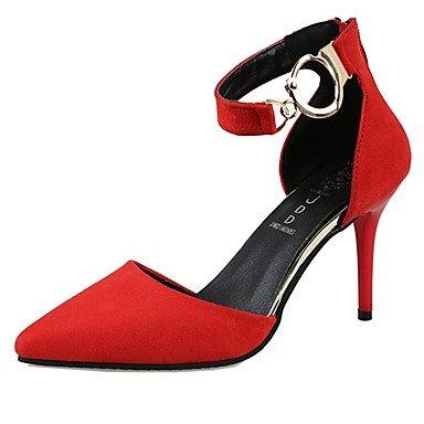 RTRY Donna Luce Tacchi Suole Autunno Inverno Pu Abbigliamento Casual Bowknot Tallone Gattino Ruby Grigio Nero 1A-1 3/4In US5.5 / EU36 / UK3.5 / CN35