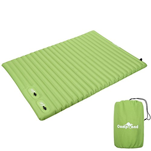 CampLand Double Sleeping Pad Lightweight & Compact Air Mattress for Camping Hiking Backpacking