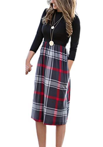 Mutter Tochter Print Eltern-Kind-Kleid Elegante Lange Rock Familie passende  Kleidung Herbst und Winter Kleid Weibliches Mädchen Kleid 658b7161a0
