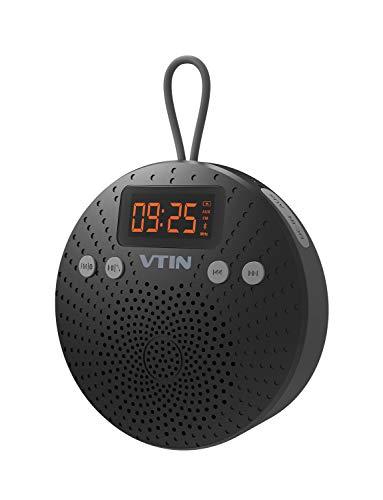 VicTsing Altavoz Bluetooth Ducha Impermeable, Radio FM y Pantalla LCD Digital, Manos...
