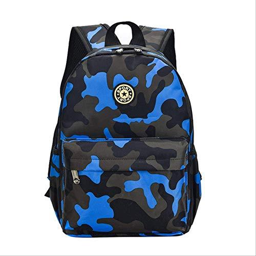 OFOO Schulranzen Camouflage Kinderrucksack Kindergartentaschen Schulschüler Studenten niedlicher Druck Oxford Rucksack Kinder Tasche blau klein -