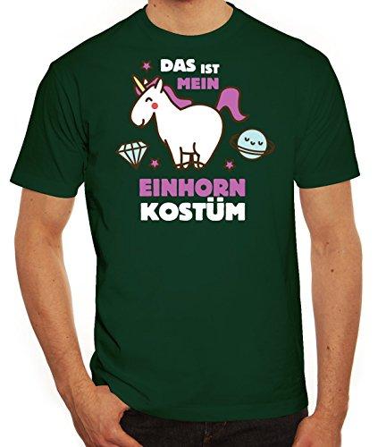 Fasching Karneval Herren T-Shirt mit Das ist mein Einhorn Kostüm 2 Motiv von ShirtStreet, Größe: (Pferd Idee Kostüm)
