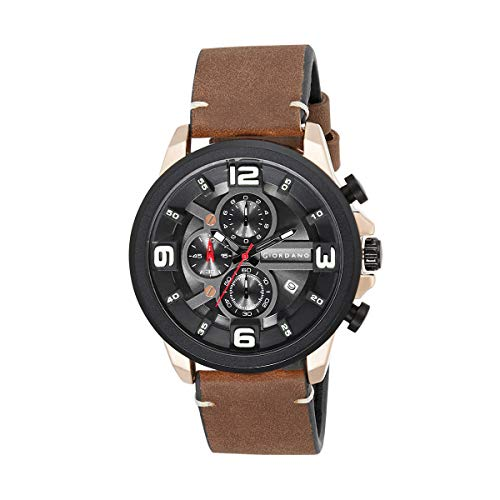 Giordano Analog Black Dial Men's Watch-C1114-03
