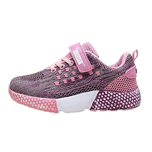Pingtr Turnschuhe Wanderschuhe Hallenschuhe - Baby Kind Mädchen Jungen Mesh Sneaker Sport flach mit flachen Komfort-Schuhen