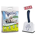 Tigerino Canada Cat Litter Lemongrass Scented 12kg Made from Fine Natural Clay Granules