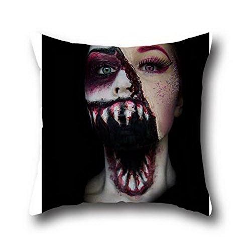 Fen Dou La 100% Baumwolle Halloween Maske Deko Gesteppte Kissenbezüge Kissen Case Retro 18* 18