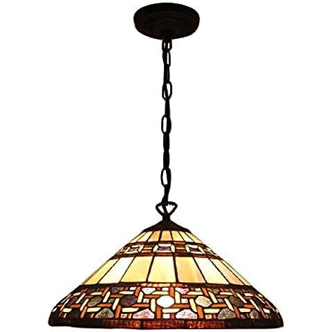 Gweat 16 pulgadas estilo pastoral antiguo techo de la lámpara pendiente de la luz accesorios para sala de estar Comedor Dormitorio
