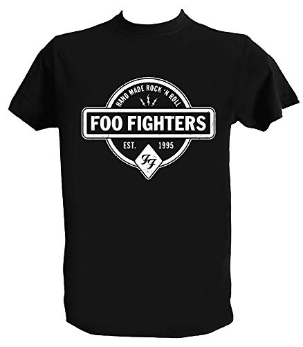 T shirt foo fighters logo, dave grohl, alternative rock music, bambino 9-11 anni