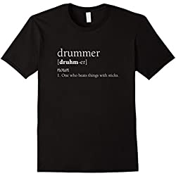 Men's Drummer Definition Shirt, Funny Musician Band Gift Large Black