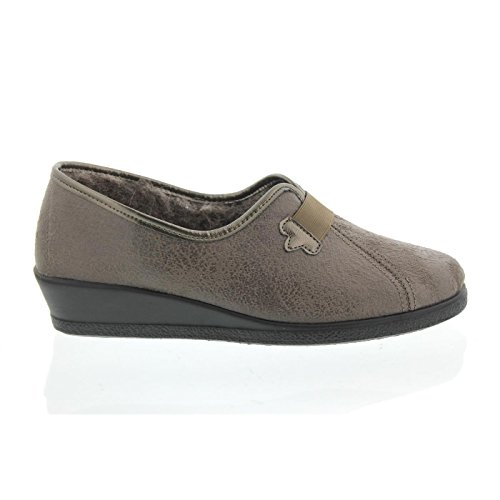 Rohde Ladies Slipper 2535-17 lin gris Gris