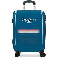 Pepe Jeans Yarrow Equipaje de Mano, 55 cm, 38.4 litros, Azul