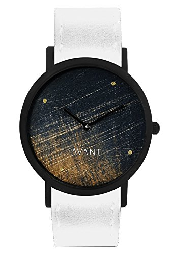 South Lane ' Swiss Quartz Stainless Steel and Leather Casual Watch, Color:Black (Model: swiss-bl-26)