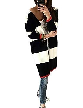 Mikos - Cárdigan - para Mujer Blanco y Negro Talla única