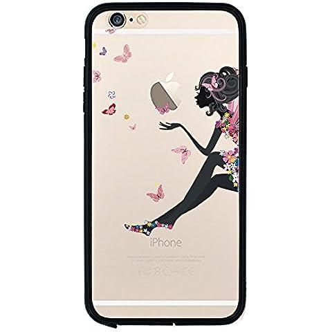 Qissy® ( No para iPhone 7 plus ) iPhone 7 Funda,Carcasa iPhone 7 Case Cover chica de perfume Silicona Suave Funda para Apple iPhone 7 4.7