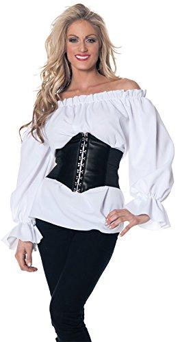 Renaissance Long Sleeve White Blouse Adult Small