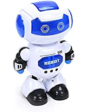 Tickles Electronic Walking Dancing Robot Toy with Music Lighting for Kids Toddlers - White