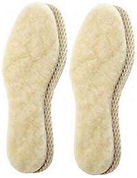 2 Paar echte warme kuschelige Lammwoll Einlegesohle-n Basic Creme Damen Herren Gr.36-48