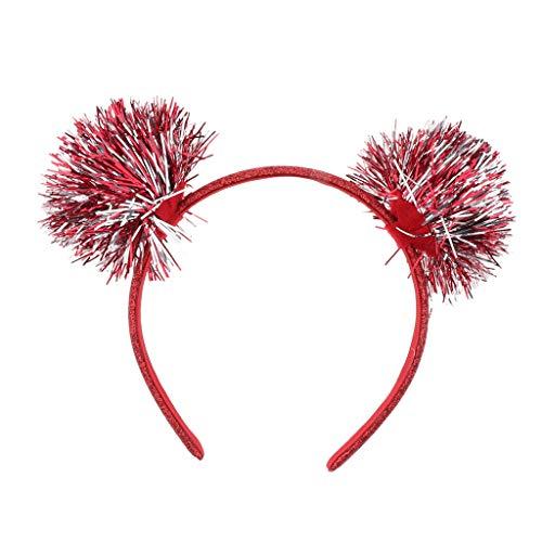 F Fityle Damen Mädchen Haarschmuck Gummiband Haarreif Haarband Stirnband glitter Katzenohren Hair Accessiories - Haarschleife