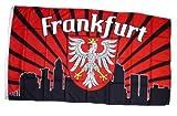 Flagge Fahne Frankfurt Silhouette Fan 90 x 150 cm FLAGGENMAE®