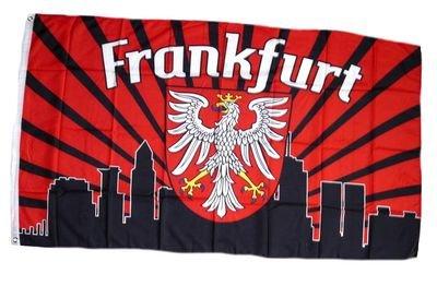 Fahne / Flagge Frankfurt Silhouette Fan NEU 90 x 150 cm (Fußball-silhouette)