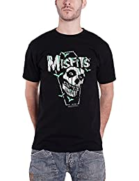 Misfits T Shirt Distressed Coffin Jarek Skull Band Logo Offiziell Herren Nue
