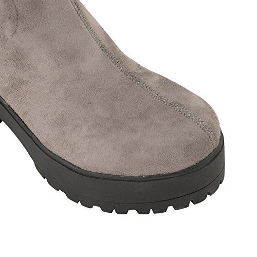 Calçado Cinza Sensação Botas Senhoras Sobrepor vzwZxvqWr1