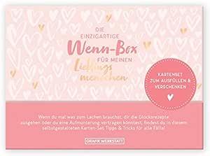 Grafik Werkstatt Geschenk Box Für Den Lieblingsmensch Karten Set Zum Ausfüllen 20 Karten In Hochwertiger Box Bürobedarf Schreibwaren