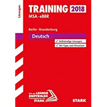 Lösungen zu Training MSA/eBBR - Deutsch - Berlin/Brandenburg