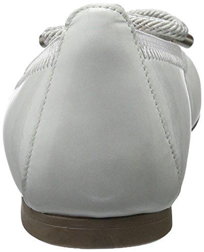 Hispanitas Damen Macadam-v7 Geschlossene Ballerinas Weiß (KAFFIR-V7 WHITE)