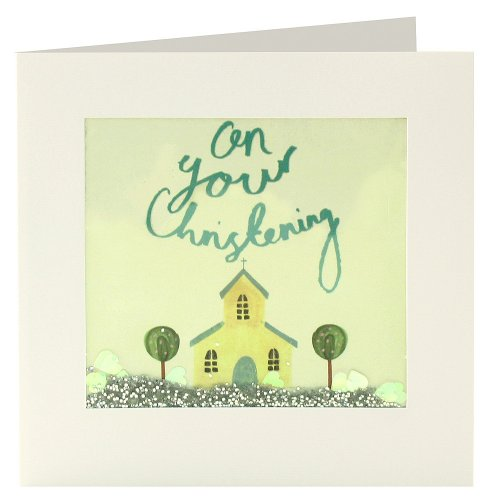 James Ellis Shakies Christening Church and Trees Card