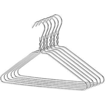 100 Drahtbügel Silber Draht-Kleiderbügel , Draht-Stärke: ca. 2,3 mm ...