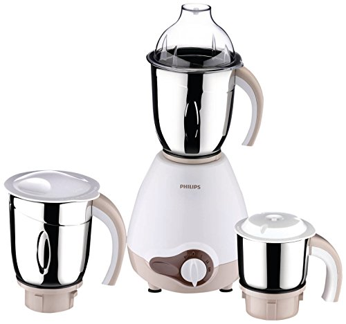 (CERTIFIED REFURBISHED) Philips Viva Collection HL1646 600-Watt Vertical Mixer Grinder with 3 Jars (Chocolate)  available at amazon for Rs.2749