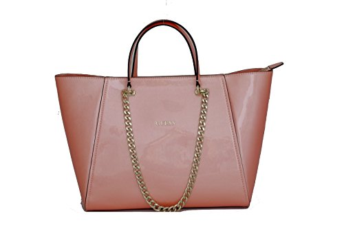 Guess handbag Nikki chain tote coral