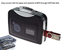 DigitNow! Portable Digital USB Cassette Audio Music Player and Tape-To-MP3 Converter (Driver and Computer not required)
