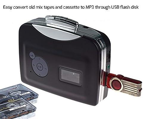 DigitNow! Lecteur de musique audio numérique portable à cassettes USB et convertisseur de bande-to-MP3 (Pilote et ordinateur non requis)