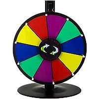 Happybuy mesa color premio rueda con plegable trípode soporte de suelo ranuras Colorful Feria de borrado en seco fortuna Spinning premio rueda para Spin Juego Carnaval
