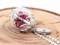 Namenskette Silber Glück Kette Geschenk Wunschfüllung Löwenzahn Blüten