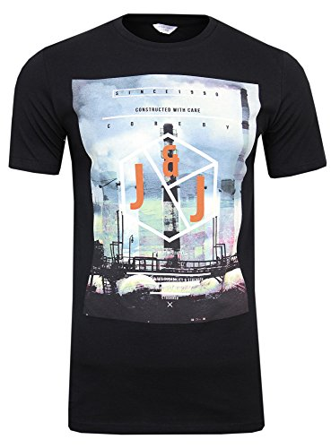 JACK & JONES -  T-shirt - Maniche corte  - Uomo Schwarz ( Black / Slim Fit ) S