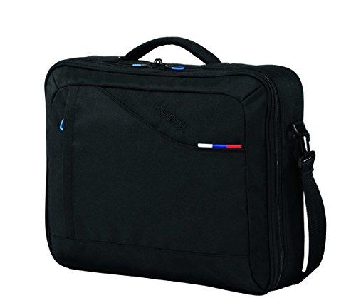 American Tourister Notebooktasche at Business III, Black, 43 x 8 x 34 cm, 17 liters, 47754 - Samsonite Nylon-schulter-bag