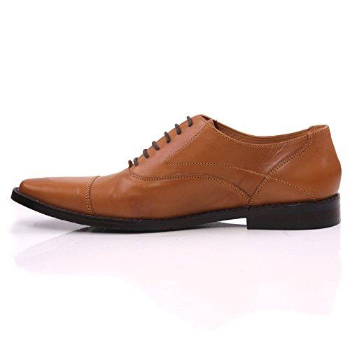 Unze Leather Laced -up Büro Mens ' Dock ' , Kleid-Schuhe - IMP-M3BR Braun