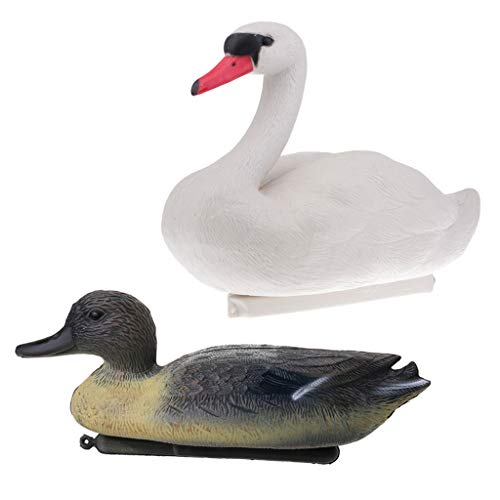 SM SunniMix 2pcs Simulation Duck Drake Decoy Gänseköder Garden Decor Realistische Ornament -