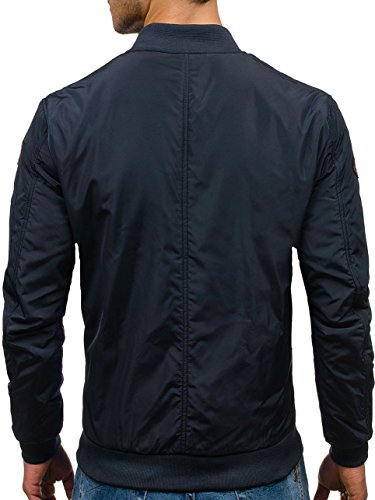 BOLF Herren Sweatjacke Übergangsjacke Jacke Kapuze Zip Mix 4D4 Motiv Dunkelbalu_N711