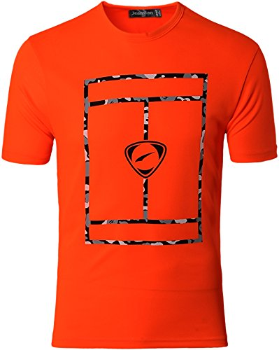 Jeansian Herren Sportswear Quick Dry Short Sleeve T-Shirt LSL182 LSL180_Orange