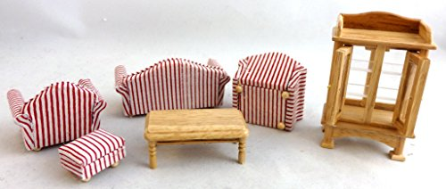 Town Square Miniatures Oak Living Room Set