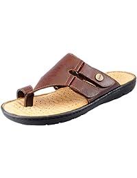 Dr.Scholls Men's Leather Toe Slippers