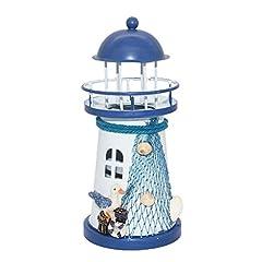 Idea Regalo - Generic Mediterraneo Candela Faro Ferro LED Luce Di Ancoraggio Tavolo Casa Decorazione - #1