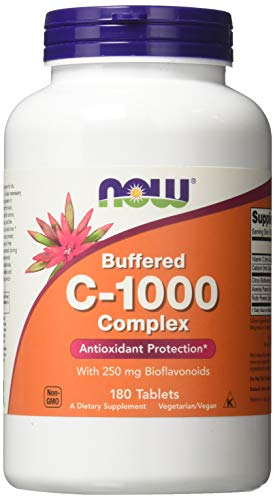 Vitamin C-1000 | Buffered C mit verzögerter Freisetzung | 180 Tabletten mit 250 mg Bioflavonoide | vegan und glutenfrei (C Bioflavonoide Vitamin)